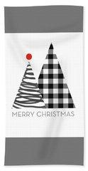 Modern Merry Christmas Trees - Art By Linda Woods Beach Towel