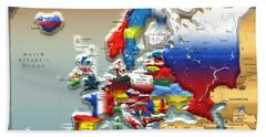 Modern Portrait Of Modern Europe - 3d Beach Towel