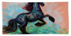 Modern Royal Friesian Beach Towel