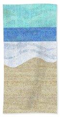 Beach Towel featuring the digital art Modern Sandy Beach by Karen Dyson