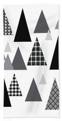 Modern Triangle Trees- Art By Linda Woods Beach Towel