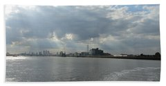 Moggy Afternoon On The Woolwich Ferry Crossing - London Beach Sheet