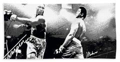 Mohamed Ali Float Like A Butterfly Beach Towel by Saundra Myles