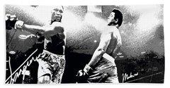 Mohamed Ali Float Like A Butterfly Beach Towel