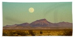 Mohave Desert Moon Beach Towel