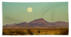 Mohave Desert Moon Beach Sheet