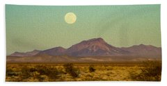 Mohave Desert Moon Beach Towel