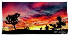 Mojave Sunset Beach Towel