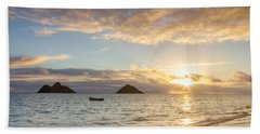 Mokulua Morning Beach Towel by Penny Meyers