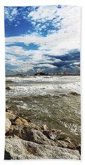 Mole Stones  In Rimini Beach Sheet