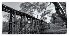 Beach Sheet featuring the photograph Mollisons Creek Trestle Bridge by Linda Lees