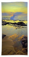 Beach Towel featuring the photograph Mololkai Splash by Tara Turner
