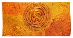 Molten Spiral Beach Towel by Rachel Hannah