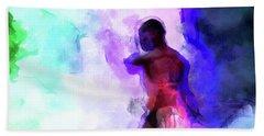 Moment In Blue - African Dancer Beach Towel