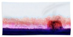 Moment In Blue Horizon Tree Beach Towel