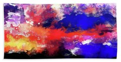 Moment In Blue Sunrise Beach Sheet by Cedric Hampton