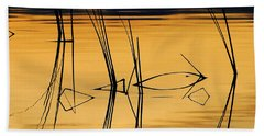 Momentary Tranquil Reflection Beach Towel