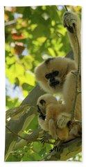 Mommy Gibbon Beach Towel