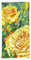 Mom's Golden Glory Beach Towel