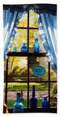 Mom's Kitchen Window Beach Towel by John Scates