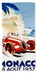 Monaco Grand Prix 1937 Beach Towel