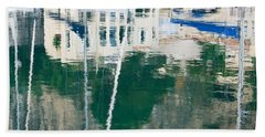 Beach Sheet featuring the photograph Monaco Reflection by Keith Armstrong
