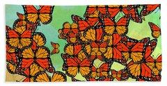 Monarch Butterflies Beach Towel by Gaspar Avila