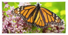 Beach Towel featuring the photograph Monarch Butterfly Closeup  by Ricky L Jones