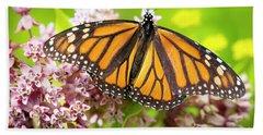 Beach Sheet featuring the photograph Monarch Butterfly Closeup  by Ricky L Jones
