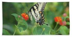 Monarch Butterfly Beach Towel by Debra Crank