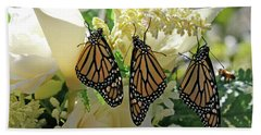 Monarch Butterfly Garden  Beach Towel by Luana K Perez