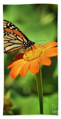 Monarch Butterfly II Vertical Beach Towel