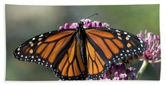 Beach Towel featuring the photograph Monarch Butterfly by Stephen Flint
