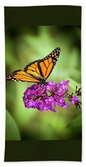 Monarch Moth On Buddleias Beach Towel