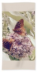 Monarch's On Milkweed Beach Sheet