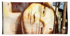Mona's Facial Expression Beach Towel
