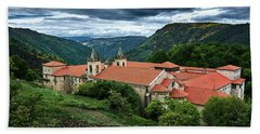 Monastery Of Santo Estevo De Ribas Del Sil Beach Towel