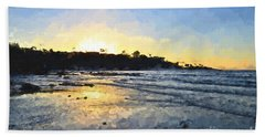 Monet Sunset At La Jolla Shores Beach Towel