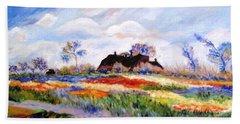 Monet's Tulips Beach Sheet