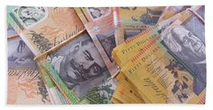 Beach Towel featuring the photograph Money by Debbie Cundy