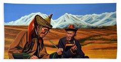 Mongolia Land Of The Eternal Blue Sky Beach Towel