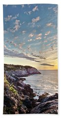 Beach Towel featuring the photograph Monhegan East Shore by Tom Cameron