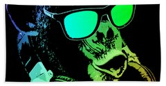 Monkey Dj Neon Light Beach Towel