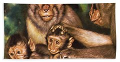 Monkey Family Beach Towel