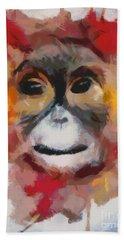 Monkey Splat Beach Towel