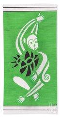 Monkeying Around -- Whimsical Stylized Monkey Beach Towel