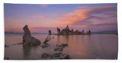 Mono Lake Long Exposure Sunset  Beach Towel