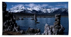 Mono Lake-signed Beach Towel by J L Woody Wooden