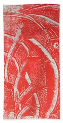 Mono Print 001 - Rotation Beach Towel by Mudiama Kammoh