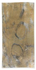 Mono Print 003 - I Am Not Art Beach Towel by Mudiama Kammoh